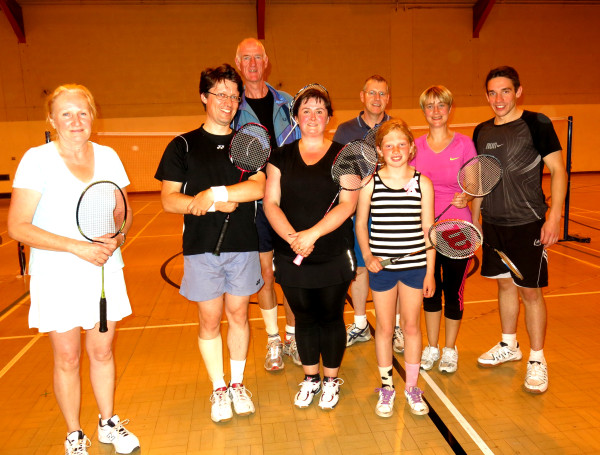 Finalists- Blencowe Summer Badminton Tournament 2014